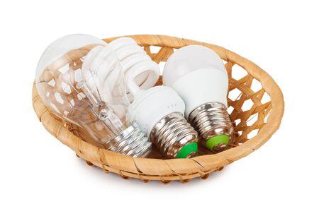 natural light: Light bulbs in the basket
