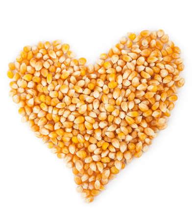 racy: Corn seeds. Heart