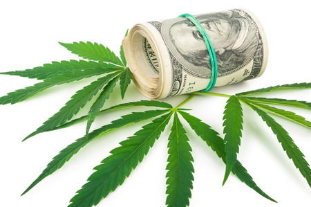 the cannabis and money Stock Photo