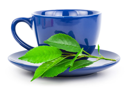 Cup of tea with leaves