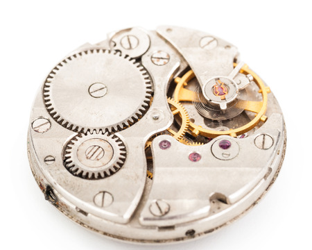 clockwork old mechanical  watch Stock Photo