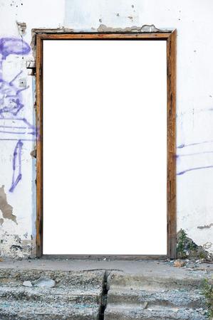 doorway: A blank doorway