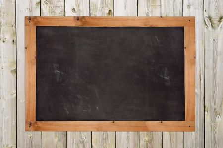Chalkboard on the wood wall