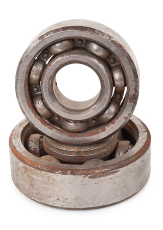 chromium plated: Old rusty bearings