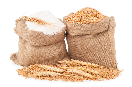 Flour and wheat grain Stock Photo - 71106933