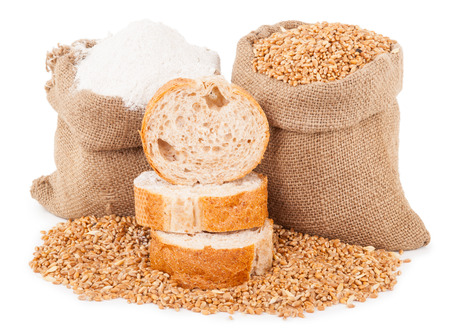 spica: Flour and wheat grain with bread