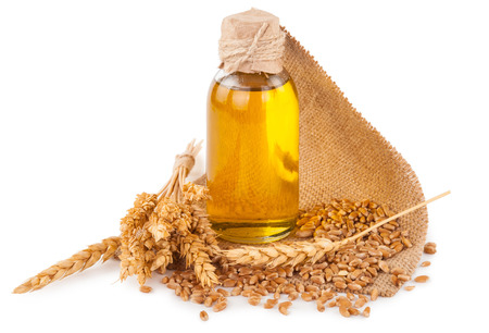 wheat germ oil Stock Photo