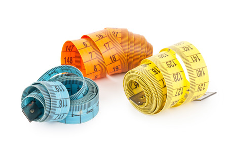 volute: Measuring tapes Stock Photo