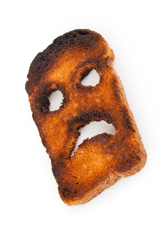 unhealthful: Burnt toast