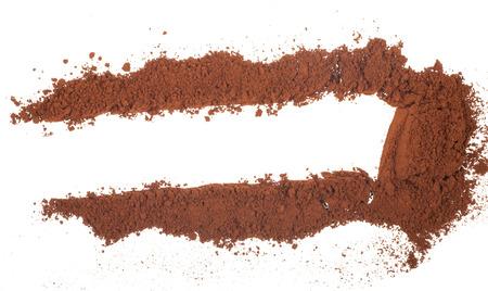 Cacao en polvo aislado en un fondo blanco Foto de archivo - 85201529