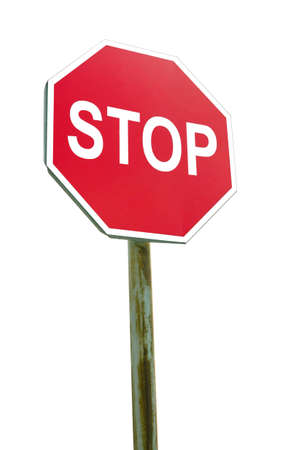 Stop sign on white background