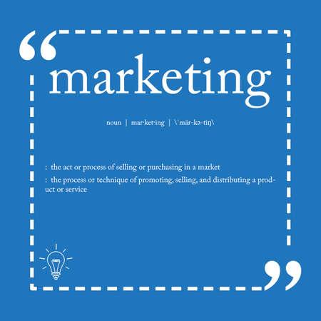Marketing definition Illustration