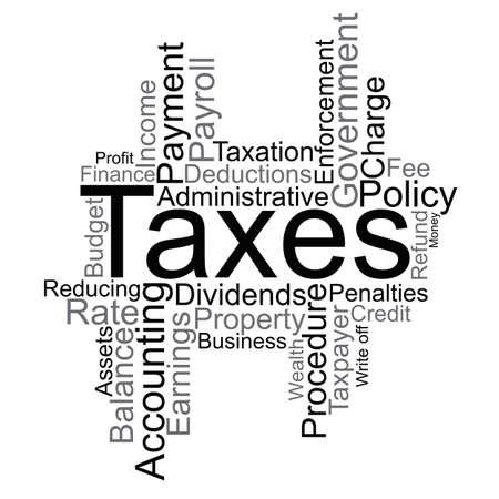 Taxes word cloud