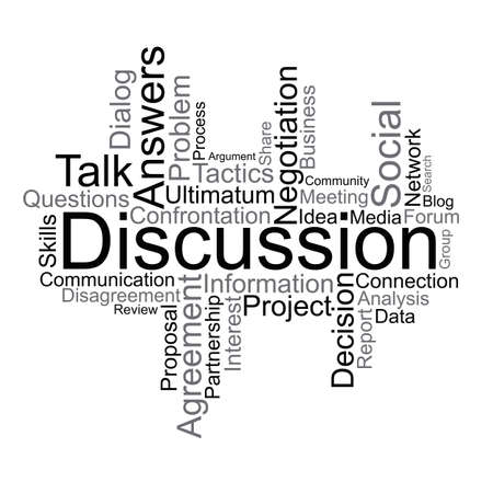 Discussion tag cloud Illustration