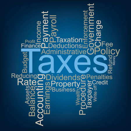 Taxes word cloud