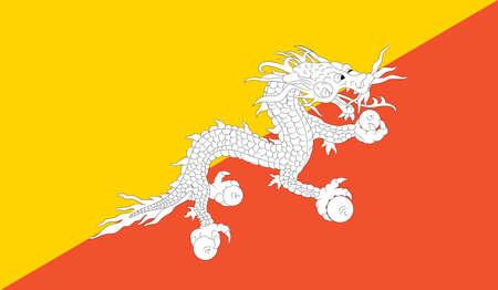 ブータンの国旗、ベクトル 写真素材 - 83884752