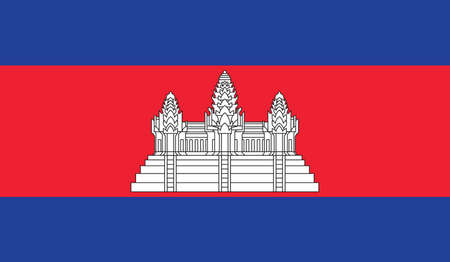 cambodian: Cambodia flag, vector
