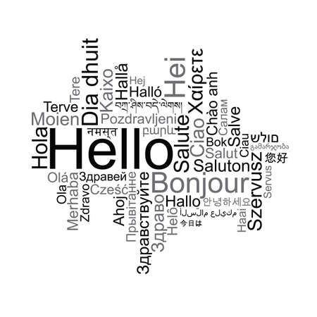 Hello tag cloud in different languages.