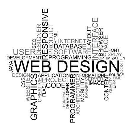 web browser: Web Design tag cloud