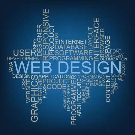 Web Design tag cloud
