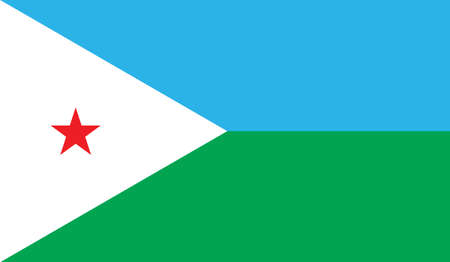 Djibouti flag, vector