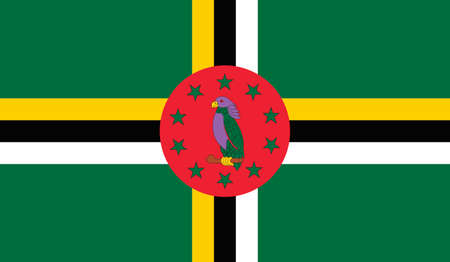 national identity: Dominica flag, vector