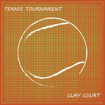 Tennis background, vector
