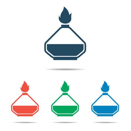Laboratory burner icon - simple flat design, vector