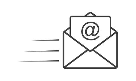 web marketing: Email icon - simple flat design isolated on white background, vector