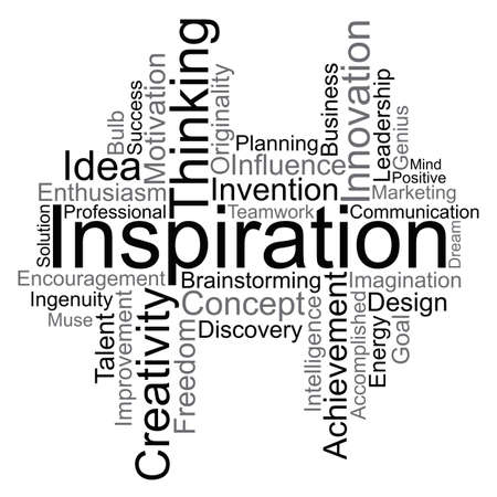 Inspiratie word cloud, vector Stock Illustratie