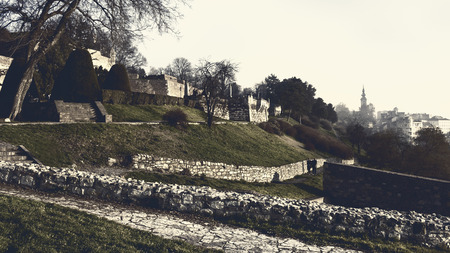 leeway: Kalemegdan park landscape Stock Photo
