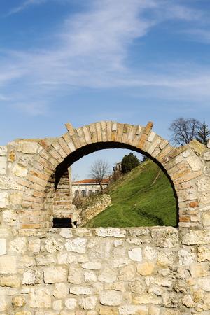 former yugoslavia: Fortress of Kalemegdan in Belgrade Serbia Stock Photo