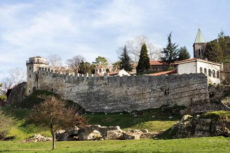 balkan peninsula: Fortress of Kalemegdan in Belgrade Serbia Editorial