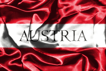 austrian: Austrian Flag Grunge Looking With Country Name On It Stock Photo