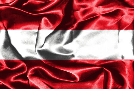austrian: Austrian Flag Grunge Looking Stock Photo