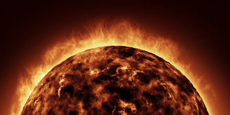 The Sun animation closeup Stock Photo