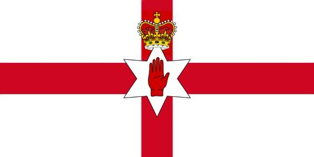 ulster: Northern Ireland Flag. Ulster Banner 3D illustration