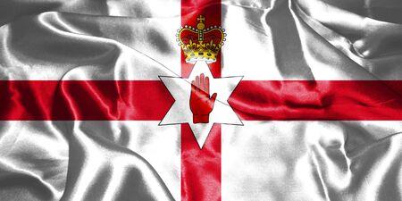 Northern Ireland Flag. Ulster Banner 3D illustration