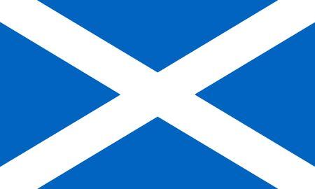 Flag Of Scotland 3D illustration Stock Photo