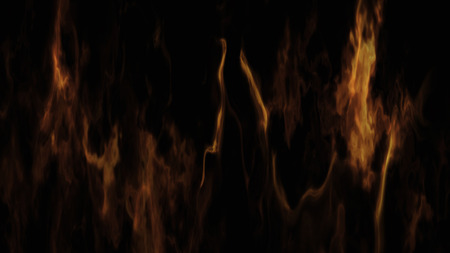 Burning Fire and Flames On Black Background 3D Rendering