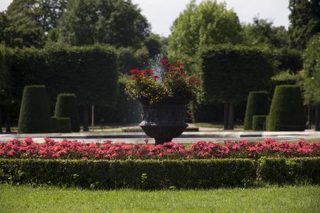 Beautiful Garden Of The Schönbrunn Palace in Vienna, Austria
