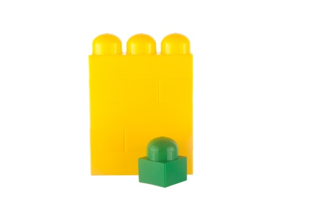 opinionated: Be different made of toy blocks, isolated on white