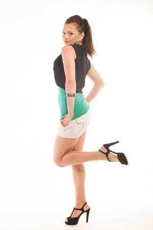 Pretty female model posing in studio Stock Photo - 18617044