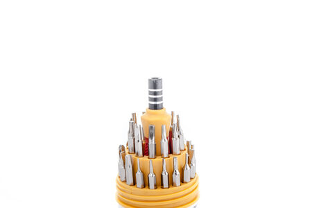 screw key: Multi Screwdriver Kit Stock Photo