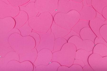IT background: Pink paper Saint Valentines hearts