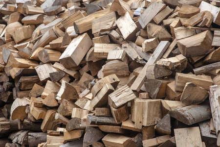disorganized: Disorganized firewood in a mess texture  background Stock Photo