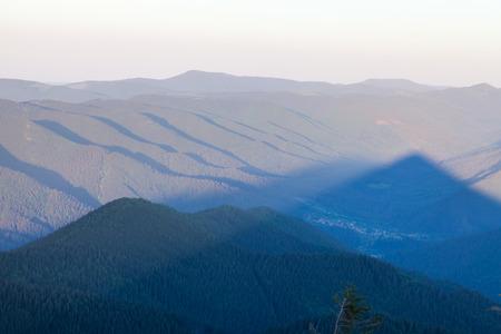 overlook: Pretty range of mountains high altitude tourism Stock Photo