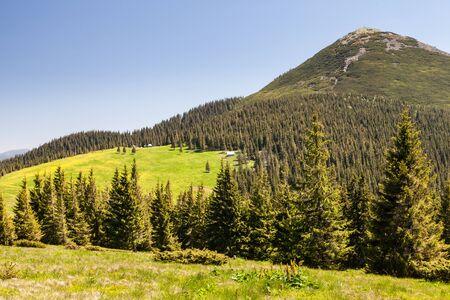 altitude: Pretty range of mountains high altitude tourism Stock Photo