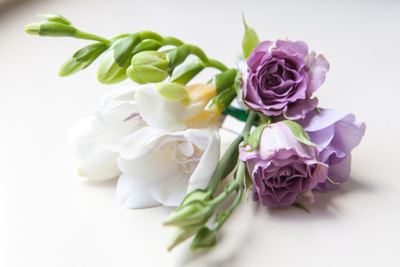men groom wedding buttonhole boutonniere wed attribute Stock Photo