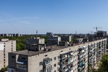 generic cityscape view in residential area from high point Standard-Bild - 101541148